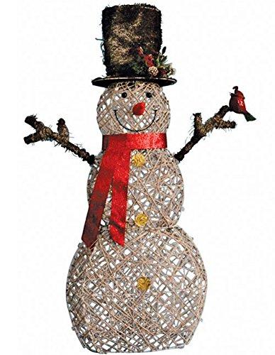 Faux Birch Snowman 60''
