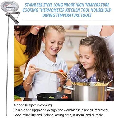 Jacobden Edelstahl Lange Sonde Hochtemperatur Kochen Thermometer-Küche-Werkzeug Haushalt Speise Temperatur Werkzeuge