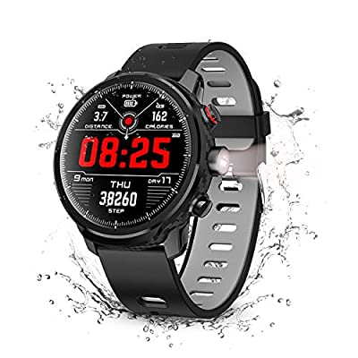 Smart Watch, Wonbo Touchscreen Waterproof Sport Smartwatch,Fitness Tracker with All-Day Pedometer Heart Rate Sleeping Monitor, Call/Message Reminder Music Player, Compatible with iOS & Android