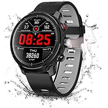 Smart Watch, Wonbo Touchscreen Waterproof Sport Smartwatch,Fitness Tracker with All-Day Pedometer Heart Rate Sleeping Monitor, Call/Message Reminder Remote ...