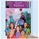 "Disney Frozen Birthday Party Scene Setters Wall Decorating Kit (5 Pack), Multi Color, 59"" x 65""."