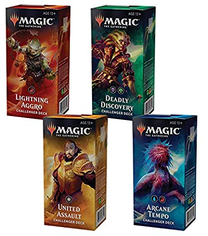 Magic the Gathering MTG 2019 Challenger Set of All 4 Decks