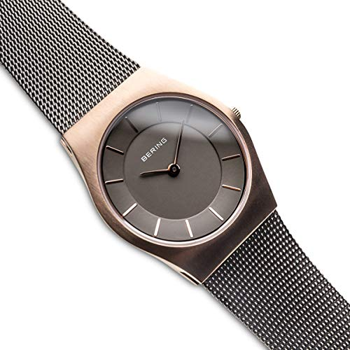 BERING Time 11930-369 Womens Classic Collection Watch with Mesh Band and Scratch Resistant Sapphire Crystal. Designed in Denmark.