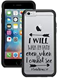 iPhone 6S Case, iPhone 6 Case - I will Walk By Faith Corianthians Bible Verse Christian Quote Clear transparent designer hybrid case cover with drop protection - Unique Cool Cute Case by OptiCase