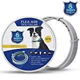 Xawy Flea & Tick Collar for Large & Small Dogs Hypoallergenic & Waterproof Tick Prevention & Flea Control Dog Collar for 8 Months of Protection