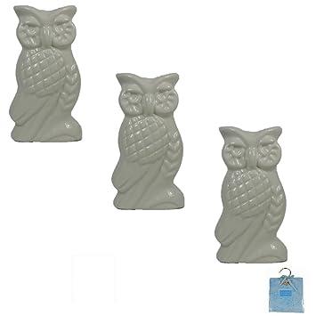 Viva-Haushaltswaren – 3 humidificador de cerámica Forma de búhos para radiadores planos. En