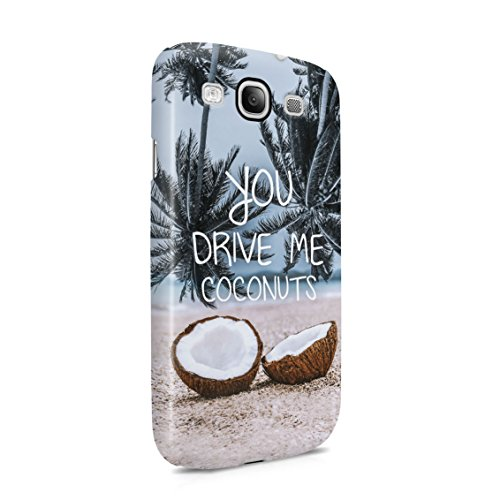 You Drive Me Coconuts Tropic Fruit Banana Watermelon Paradise Island Plastic Phone Snap On Back Case Cover Shell For Samsung Galaxy S3 - Banana Me You