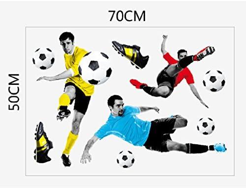 Decoracion Juego De Futbol 3D De La Etiqueta Engomada Del Arte De La Pared Del Futbol Ninos Dormitorio Papel Pintado Mural: Amazon.es: Juguetes y juegos