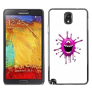 Be Good Phone Accessory // Dura Cáscara cubierta Protectora Caso Carcasa Funda de Protección para Samsung Note 3 N9000 N9002 N9005 // Funny Pink Monster