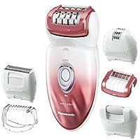 Depiladora y afeitadora húmeda /seca Panasonic ES-ED90-P, con seis accesorios que incluyen tampón de pedicura para el cuidado de los pies