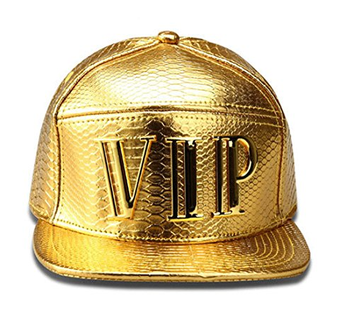 VIP Alloy Hip Hop Swag Baseball Cap Snapback Caps Gorras Breathable Hat (Gold)