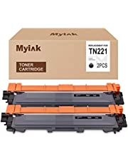 MYIK Compatible Toner Cartridge Replacement for Brother TN221 TN-221 to use with HL-3140CW HL-3170CDW HL-3180 MFC-9130CW MFC-9330CDW MFC-9340CDW (Black,2 Pack)