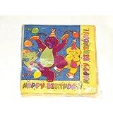 Barney Happy Birthday Party Napkins