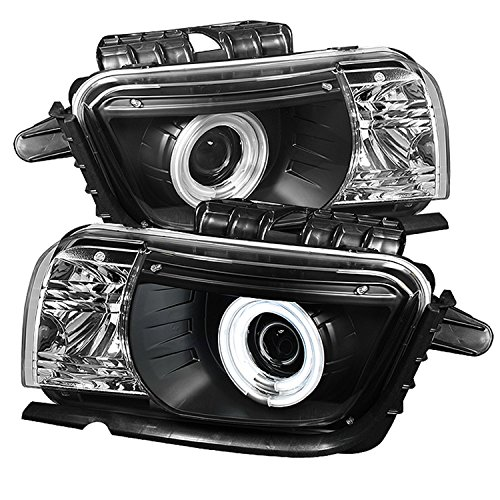 Spyder Auto PRO-YD-CCAM2010-CCFL-BK Chevy Camaro Black Dual CCFL Halo Projector Headlight