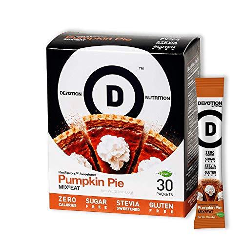 Devotion Nutrition Flex Flavors, Pumpkin Pie Stevia Instant Flavoring, Sugar Free Sweetener, Zero Calories, 30 Count