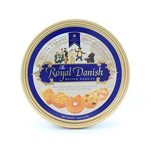 Royal Danish Premium Butter Cookies- Festive Tin (16 oz)