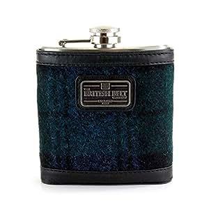 Harris Tweed Highland Hip Flasks (Black Watch)