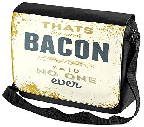 Umhänge Schulter Tasche Nostalgie Motiv Bacon bedruckt LE9NMmbPs