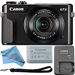 Canon Powershot G7 X Mark Ii 20.1mp 4.2x Optical Zoom Digital Camera & Built-in Wifinfc (Cloth Only)