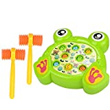 Haoun Colorful Electronic Whac-A-Mole Game Toy with Music Kid Best Toy Christmas Birthday Gift - Frog