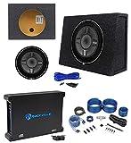 Rockford Fosgate P3SD4-12 12'' Subwoofer+Shallow Enclosure+500W Amplifier+Amp Kit