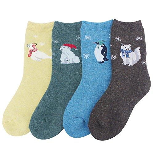 Sockspree Women's Wool Crew Socks for Winter, Best Thermal Socks (SPCW-GG030)