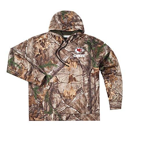 NFL Kansas City Chiefs Adult Champion Realtree Xtra Polyester Tech Fleece Pullover, 2X, Camo (Camouflage Fleece Pullover)