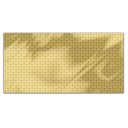 Bamboo Yellow Rectangle Tablecloth: Medium Dining Room Kitchen Woven Polyester Custom Print by uneekee