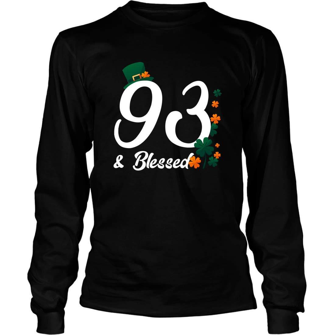 Shirts Gifts for 93rd Birthday Irish Mishozi 93rd and Blessed Ireland Long Sleeve T-Shirt Unisex