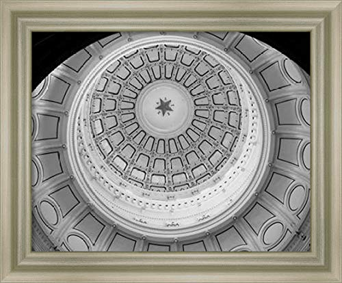 Framed Canvas Wall Art Print | Home Wall Decor Canvas Art | The Texas Capitol Dome, Austin Texas - Black and White by Carol Highsmith | Modern Decor | Stretched Canvas Prints