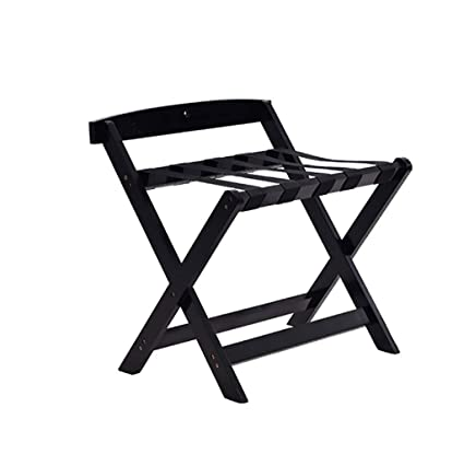 c605a3dbc659 XLJ-YJ Foldable Luggage Rack, Solid Wood Folding Luggage Rack ...