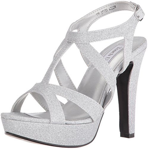 Touch Ups Women's Queenie Platform Dress Sandal, Silver, 9.5 M US