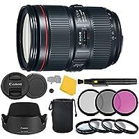 Canon EF 24–105mm f/4L IS II USM Lens + 3 Piece Filter Set + 4 Piece Close Up Macro Filters + Lens Cleaning Pen + Pro Accessory Bundle - 24-105mm II IS: Ultrasonics Motor - International Version