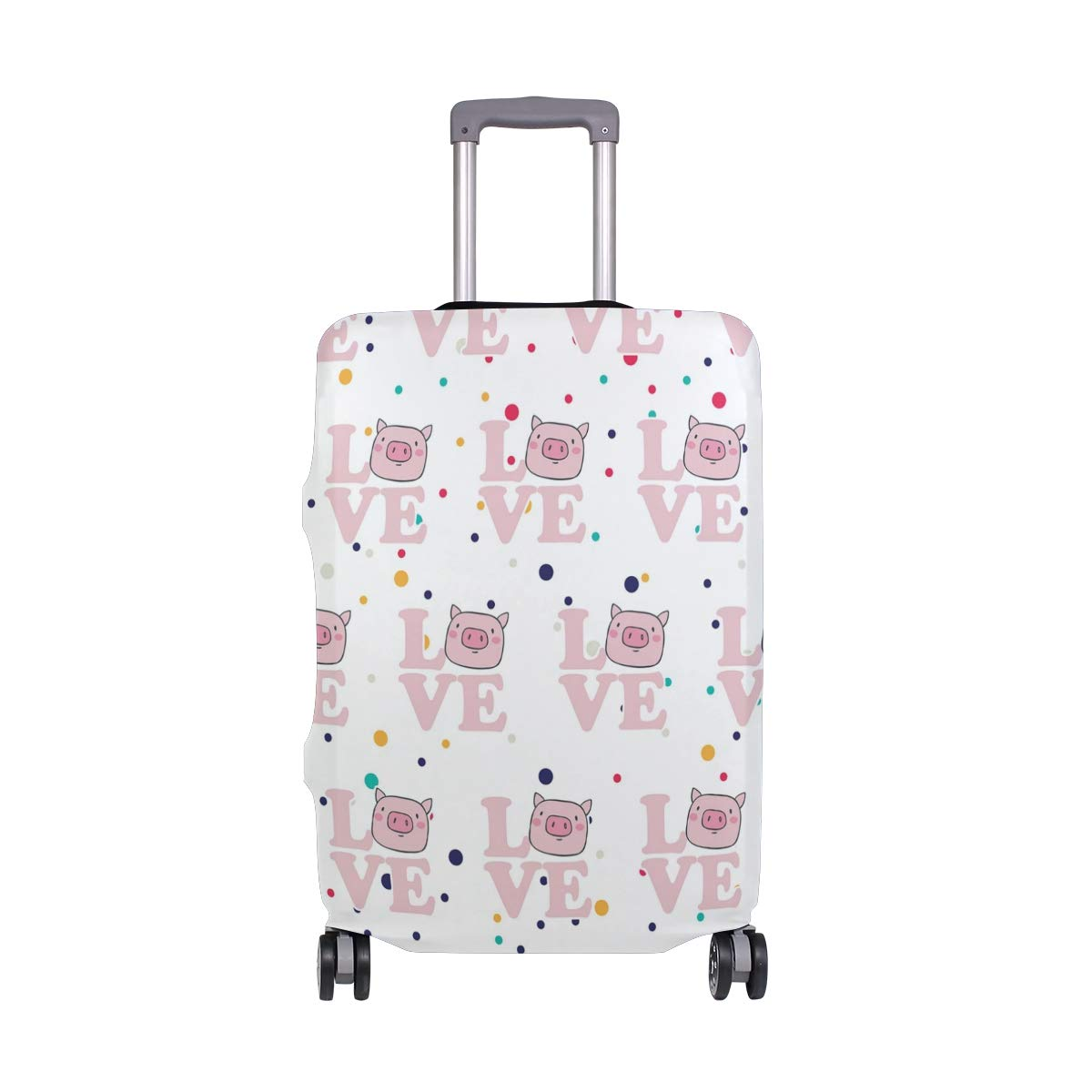 Love Pigs Travel Luggage Cover - Suitcase Protector HLive Spandex Dust Proof Covers with Zipper, Fits 18-32 inch
