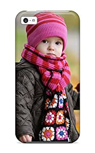 New Style New Design Shatterproof Case For Iphone 5c (cute Baby In Autumn)