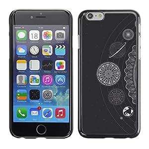 For Apple iPhone 6 Plus(5.5 inches)Case , White Stars Planets Solar System - Diseño Patrón Teléfono Caso Cubierta Case Bumper Duro Protección Case Cover Funda