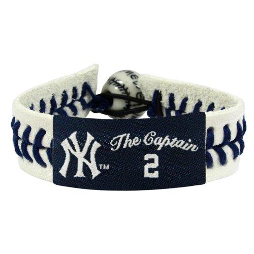 (MLB New York Yankees The Captain Genuine Baseball Bracelet-Derek Jeter)