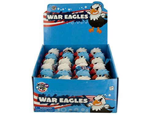 Wind039;Em Up War Eagles Countertop Display - Pack of 72