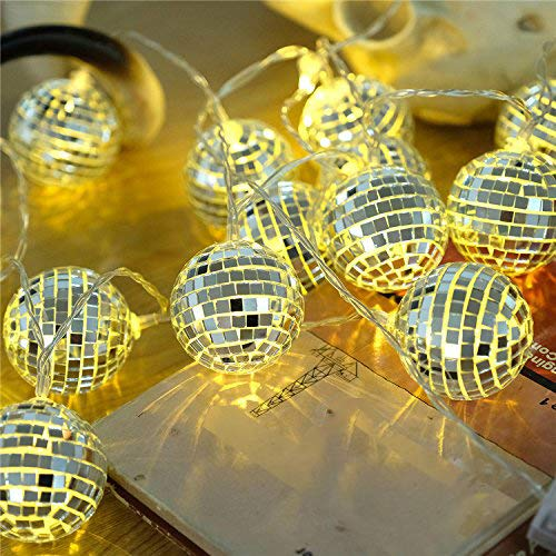 AceList 20 LED Disco Ball LED Party Light String Decorative Lanterns for Holiday Wall Window Tree Decorative Party Yard Garden Kids Bedroom Living Dorm Uses ()