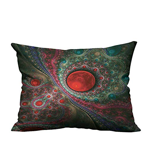 (YouXianHome Home Decor Pillowcase Circle Object Motifs Sphere Medieval Pearls Oyster Dark Print Durable Polyester Fabric(Double-Sided Printing) 19.5x30 inch)