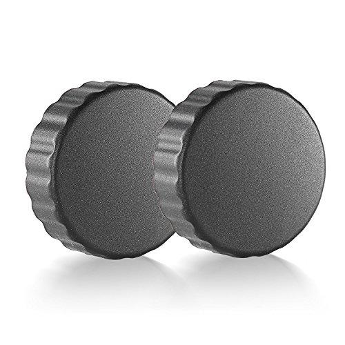 Neewer for DJI Phantom 4, DJI Phantom 3 Professional, Advanced and Standard, 2PCS Protective Lens Cover/Cap, Made of Durable Rubber - Black