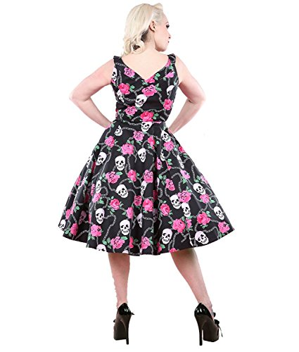 H&R London 50er Jahre Totenkopf Rosen Kleid