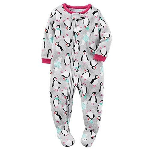 Carter's Baby Girls' Microfleece 115g166 (3T, Grey Penguin)