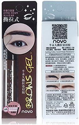 MmrmMMRM Tinte Natura duradero, no se decolora, para cejas, tinte de gel, tinte de sombra de tinte, 6 g, para mujer, resistente al agua, 01#, Café ...