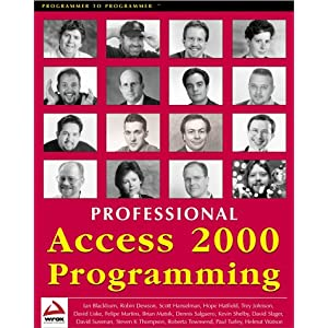 Professional Access 2000 Programming Ian Blackburn, Felipe Martins and Steven K. Thompson
