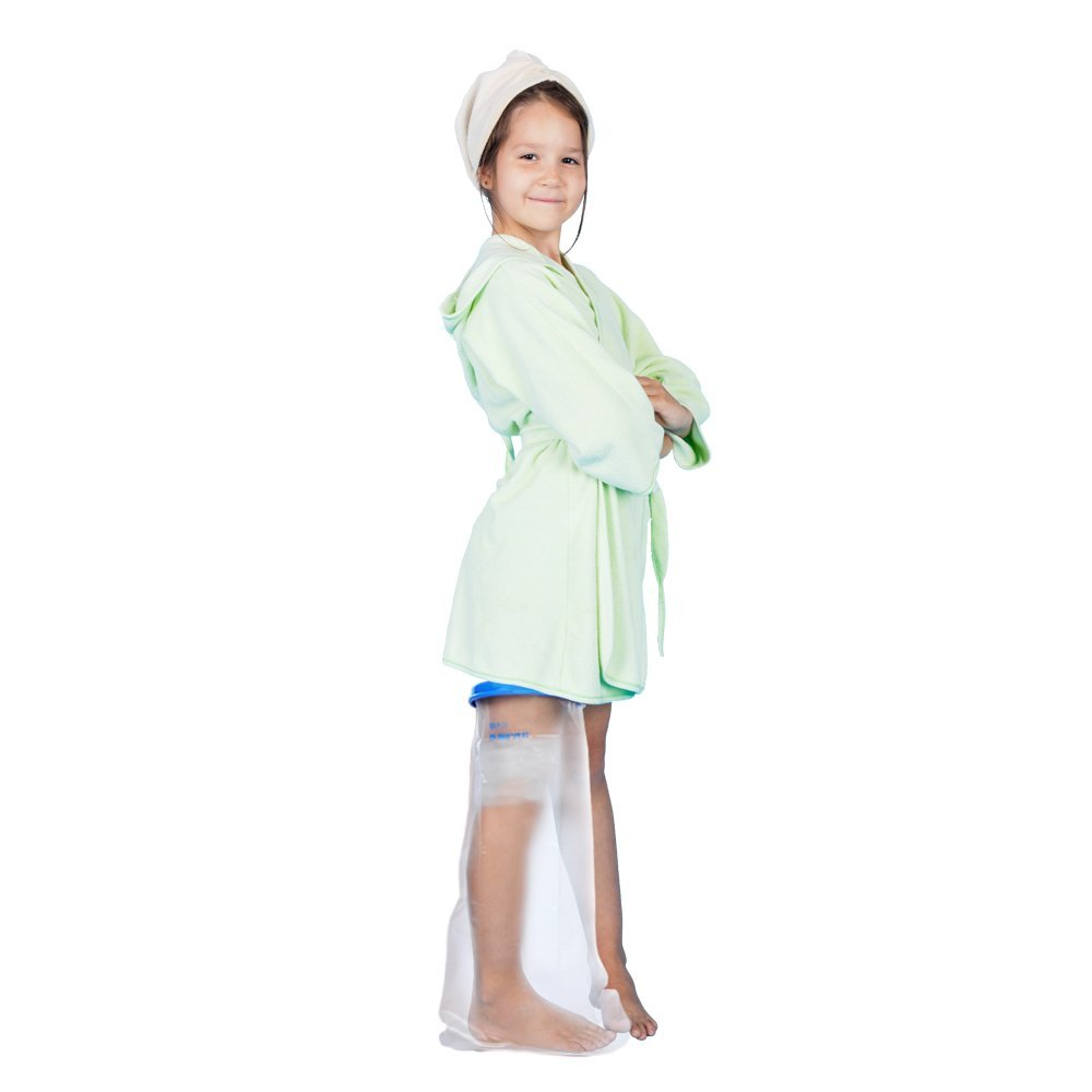 Kids Leg Cast Cover with Waterproof Seal Protection. Keep Casts & Bandages Totally Dry for Shower, Bathing Or Swimming. Heavy Duty Vinyl is Durable Yet Lightweight and Reusable. (Kids Leg Full)