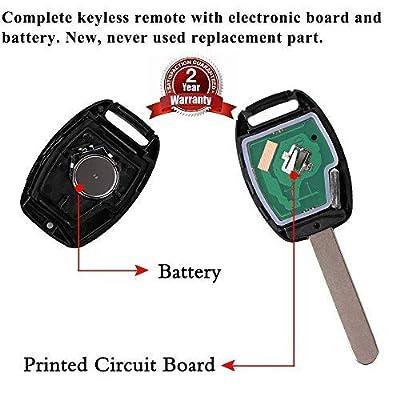 SaverRemotes Key Fob Compatible for 2008-2012 Honda Accord (Sedan Only), 2009-2015 Honda Pilot Key Fob Replacement for KR55WK49308: Car Electronics