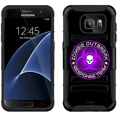 Samsung Galaxy S7 Armor Hybrid Case Zombie OutBreak Response Team Purple on Black 2 Piece Case with Holster for Sales