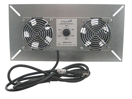 Elite-Air FAT2 220 CFM Dual Fan Crawl Space Ventilator With Dehumidistat Durablow M2D