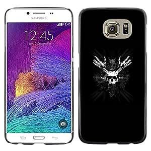 Paccase / Dura PC Caso Funda Carcasa de Protección para - Skull Pirate Face Mask Bones Black White Symbol - Samsung Galaxy S6 SM-G920